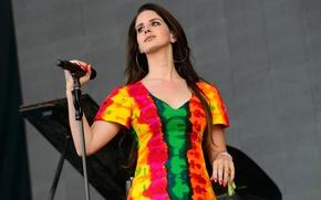 Picture Lana Del Rey, American singer, Lana Del Rey, Music Festival, Britain Glastonbury