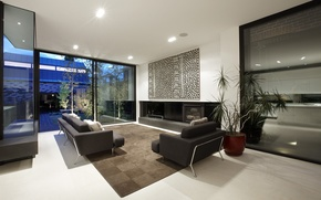 Picture room, living room, interior, sofas
