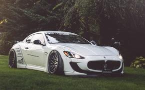 Picture Maserati, White, Granturismo, Road, MC