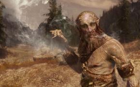 Picture giant, giant, smokes, Skyrim, the elder scrolls, Skyrim, The Elder Scroll