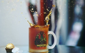 Picture squirt, tea, coffee, mug, Cup, tea, Koln, Cologne, caffee