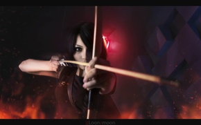 Picture girl, bow, arrow, girl, cosplay, Christina Fink
