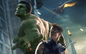 Picture fiction, Hulk, Hulk, Archer, comic, Jeremy Renner, MARVEL, The Avengers, The Avengers, Hawkeye, Jeremy Renner, …