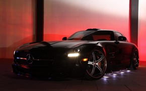 Picture tuning, Mercedes-Benz, drives, Mercedes, AMG, Germany, Coupe, SLS, the front, MEC Design, Tuner, V-8