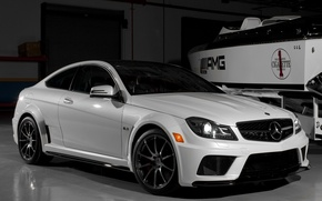 Picture car, machine, Wallpaper, tuning, garage, boat, white, white, mercedes, car, black, Mercedes, auto, benz, tuning, ...