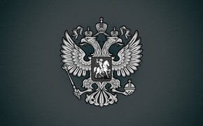 Wallpaper eagle, coat of arms, Russia