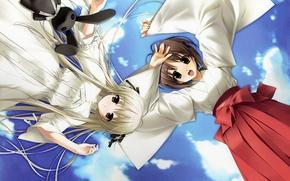 Picture the sky, clouds, toy, Yosuga no Sora, Sora Kasugano, Akira Natsume, Memorable sky