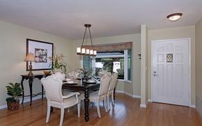 Wallpaper flowers, style, furniture, chandelier, flowers, dining room, furniture, dining room, chandelier style