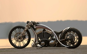 Picture motorcycle, bike, custom, unbreakable