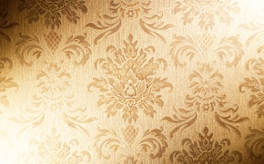 Picture gold, Wallpaper, texture, fabric, vintage