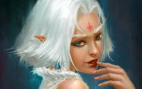 Wallpaper elf, look, fiction, art