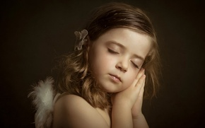 Picture sleep, portrait, girl, Little Angels, Lucia