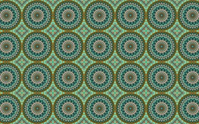Wallpaper circles, ornament, pattern, green
