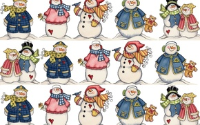 Picture mood, holiday, New year, snowman