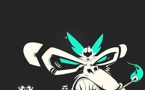 Wallpaper vector, Minimalism, match, monkey