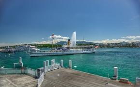 Picture Switzerland, Switzerland, Geneva, Lake Geneva, Lake Geneva, Geneva