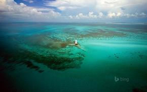 Picture sea, the sky, clouds, lighthouse, USA, Florida Keys, Alligator Reef Light