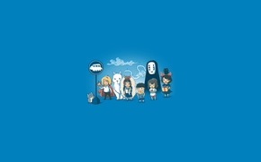 Picture art, ogino chihiro, calcifer, anime, kikis delivery service, totoro, howl, howls moving castle, san, chibi, ...
