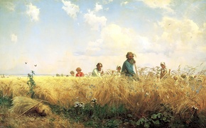 Picture Field, It's time for the harvest and hay time, Bather G.