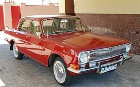 Picture red, Volga, avto, CCCP