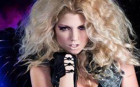 Picture hair, gloves, Caitlin Hixx