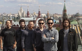 Picture The sky, The city, Rock, Group, Linkin Park, Alternative rock, Nu metal, Rapcore