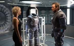 Picture Girl, Action, Beautiful, Space, Aurora, Female, Blonde, Woman, Boy, Travel, EXCLUSIVE, Jennifer Lawrence, Man, Movie, …