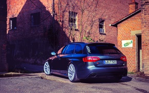 Picture Audi, Audi, RS4, vossen wheels, rearside