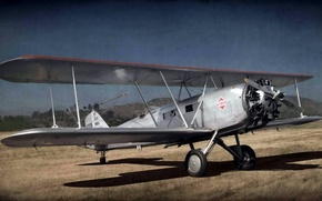 Picture style, background, the plane, Boeing 40C