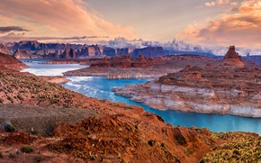 Picture Nature, Mountains, Lake, USA, Landscape, State Park, Parks, Glen Canyon Chelly