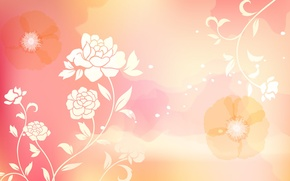 Picture flowers, abstraction, abstract, design, flowers