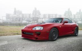 Picture black, red, supra, drives, red, toyota, Toyota, supra