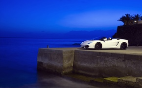 Wallpaper sea, blue, The evening, Lamborghini