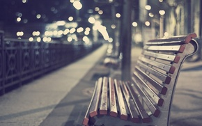 Picture bench, glare, Wallpaper, the evening, shop, picture, different, bokeh