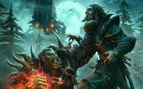 Picture People, World of Warcraft, Orc, The warlock, Warlock, Locke