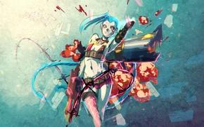 Picture weapons, art, League of Legends, Jinx, Loose Cannon