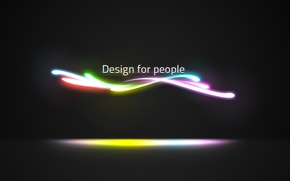 Picture line, neon, design for people