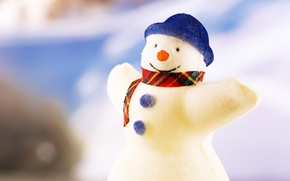 Picture toys, new year, Christmas, snowman