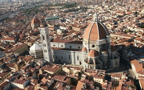 Picture city, cathedral, Italy, houses, Florence, Tuscany, church, Firenze, Santa Maria del Fiore