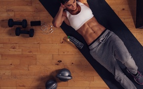 Picture female, workout, fitness, abs