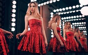 Picture Girl, Red, Model, Beauty, Blonde, View, Hair, Gorokhov, Maryana Rozhkova