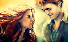 Picture love, twilight, couple