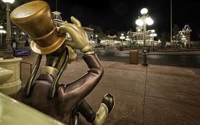 Wallpaper hat, Goofy, cylinder, photo, Disneyland, street, photographer, Greg Stevenson, amusement Park, lights, Disneyland