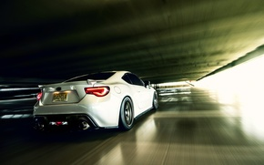 Picture car, speed, Toyota, rear, Toyota, GT86, in motion