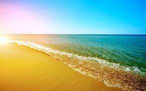Wallpaper sand, sea, beach, summer, the sun, shore