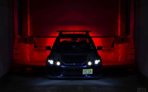 Picture machine, auto, light, lights, Mitsubishi, Lancer Evolution X