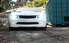 Picture white, white, Chevrolet, camaro, chevrolet, headlights, Camaro