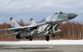 Picture The Russian air force, single, Fulcrum, OKB MiG, The MiG-29SMT, light frontline fighter, Russian multipurpose …