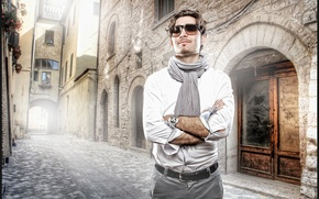 Picture background, street, male
