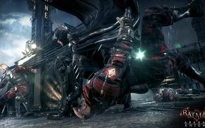 Picture weapons, Batman, Costume, blow, the bandits, Gotham, Batman:Arkham Knight